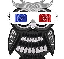 Owl - 3D Glasses - White by Adamzworld