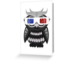 Owl - 3D Glasses - White Greeting Card
