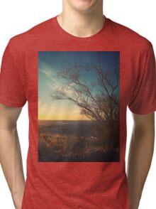 Beautiful Autumn Sunset Color Landscape Tri-blend T-Shirt