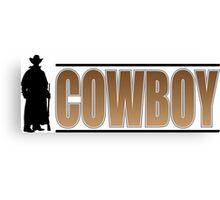 Cowboy Silhouette Canvas Print