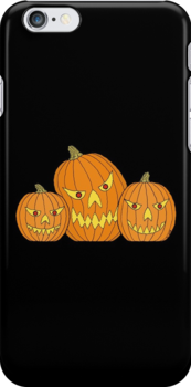 Creepy Jack-o-Lantern Trio by Richard Fay