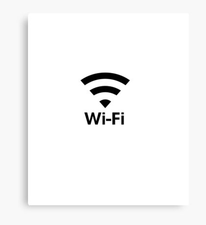 Single Pun Joke Funny Wifi Joke Graphic Humor  Canvas Print