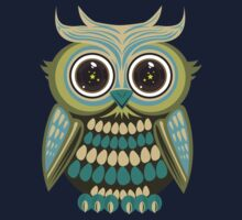 Star Eye Owl - Green 2 Kids Tee