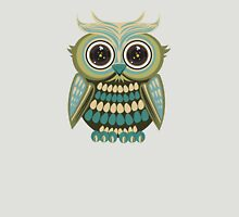 Star Eye Owl - Green 2 Womens Fitted T-Shirt