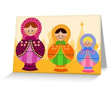 Matrioskas 2 (Russian dolls 2) Greeting Card