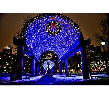 Very Merry Christmas from Boston, MA Photographic Print