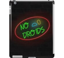 No Droids - Neon Sign Style iPad Case/Skin