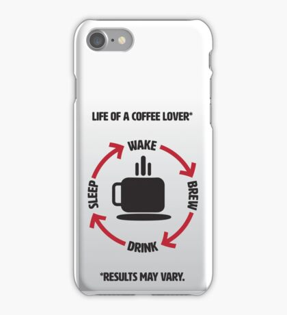 Coffee Lover Infographic iPhone Case/Skin