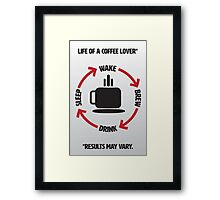 Coffee Lover Infographic Framed Print
