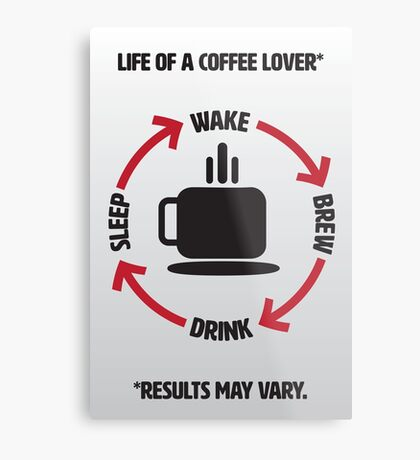 Coffee Lover Infographic Metal Print