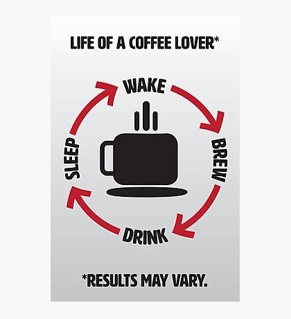 Coffee Lover Infographic Photographic Print
