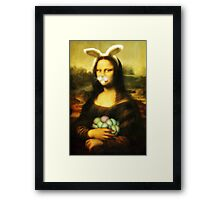 Mona Lisa Easter Bunny with Whiskers Framed Print