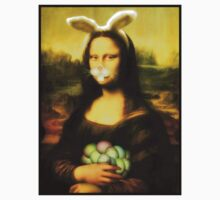 Mona Lisa Easter Bunny with Whiskers Kids Clothes