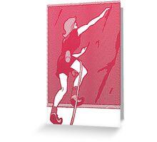 Rock Climbing Woman Abstract Greeting Card