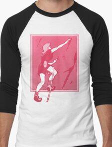Rock Climbing Woman Abstract Men's Baseball ¾ T-Shirt