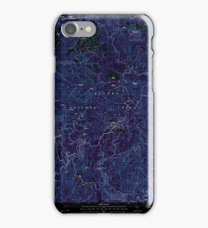 USGS TOPO Map California CA White Chief Mountain 102154 2004 24000 geo Inverted iPhone Case/Skin