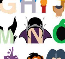 Evil-phabet Sticker