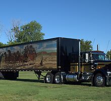 1973 Kenworth W900 Black and Gold Semi Truck by TeeMack