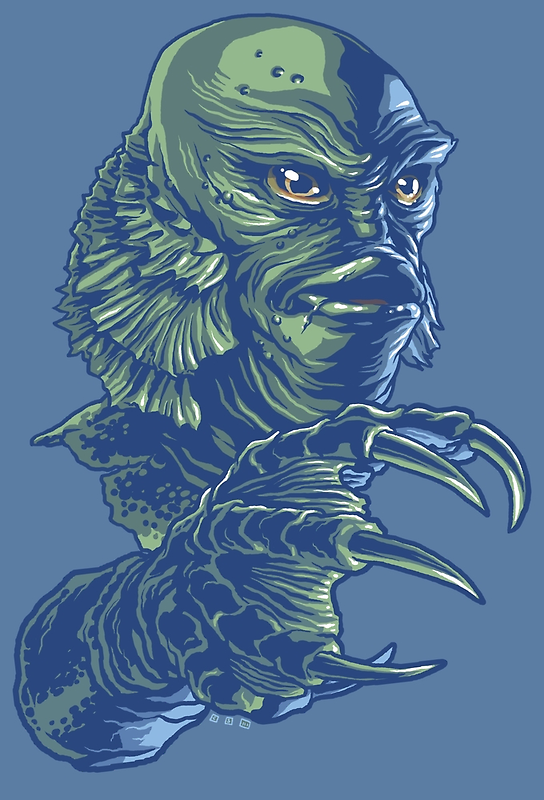 Portrait of the Creature by cs3ink