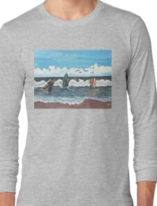Who Needs A Wet Suit............ Long Sleeve T-Shirt