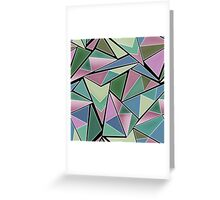 Abstract colorful Triangles pattern . 5 Greeting Card