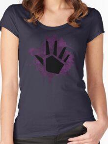 Prime Wave Beam (Splatter Black) Women's Fitted Scoop T-Shirt
