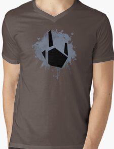 Prime Freeze Beam (Splatter Black) Mens V-Neck T-Shirt