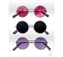 Three Sunglasses Poster