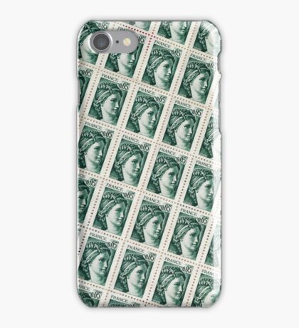French Stamps iPhone Case/Skin