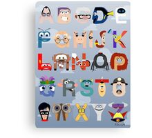 Pixar Alphabet Canvas Print