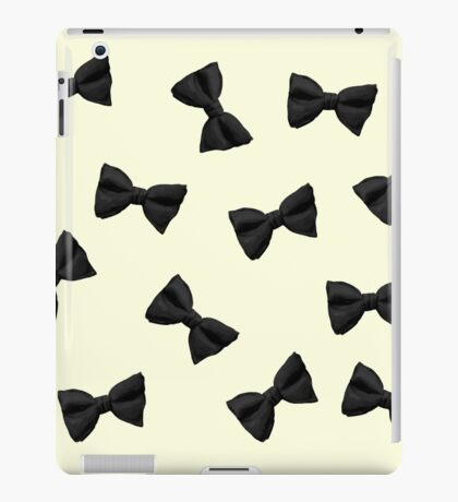 Scattered Bow Ties- Black iPad Case/Skin