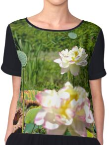 Lily Pond In Summer Chiffon Top