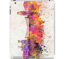 Bristol skyline in watercolor background iPad Case/Skin