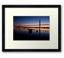 Forth Road Bridge Sunset Framed Print