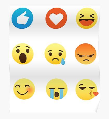 I Love Canada Canadian Funny Emoji Emoticon Graphic Tee Shirt  Poster