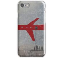 thick red line: air hub iPhone Case/Skin