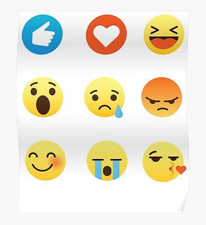 I Love Lacrosse Emoji Emoticon Funny Graphic Tee Shirt  Poster