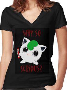 Why So Pokemon Women's Fitted V-Neck T-Shirt