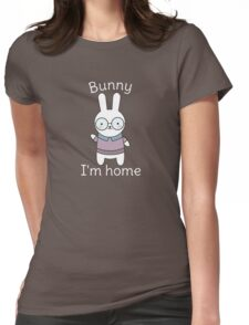 Funny and Kawaii Bunny Pun  Womens Fitted T-Shirt