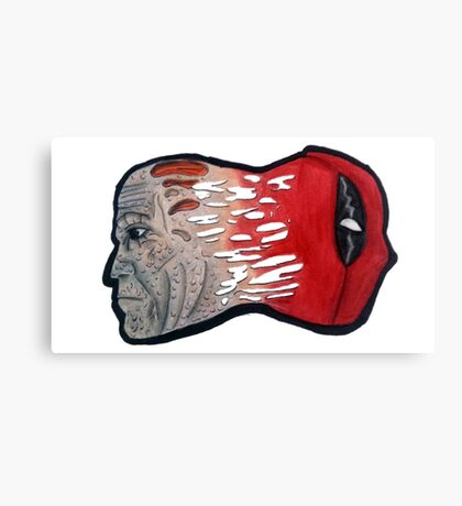 Two-Faced - Deadpool Canvas Print