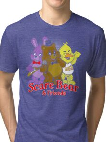 Freddy scare bear Tri-blend T-Shirt