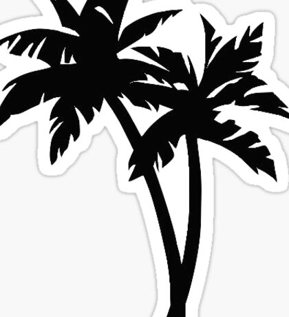 Palm Trees Drawing Sticker