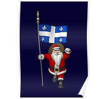 Santa Claus Visiting Quebec Poster