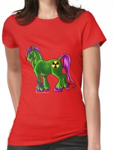 Radioactive Pony Womens Fitted T-Shirt