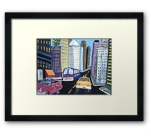 Uncle Eddy's Yellow Taxi Framed Print