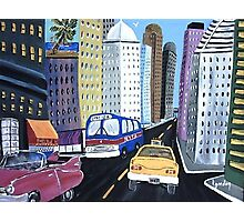 Uncle Eddy's Yellow Taxi Photographic Print