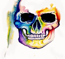 COLORFUL SKULL PAINTING by TAUDREY