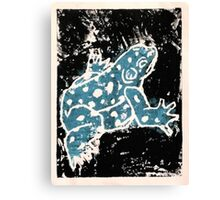 Blue Amphibian (Singular Option) Canvas Print