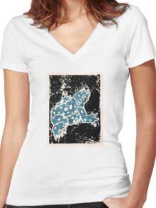 Blue Amphibian (Singular Option) Women's Fitted V-Neck T-Shirt
