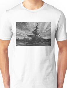 Black and White Tree and Winter Sky  Unisex T-Shirt